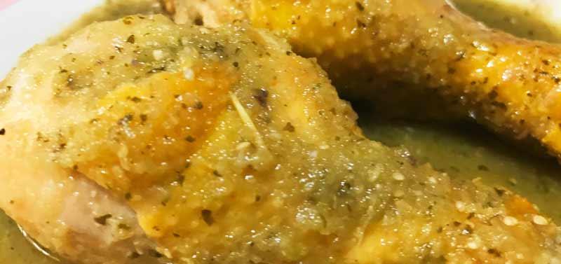 receta pollo en salsa verde