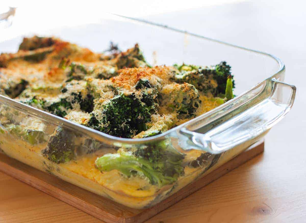 receta Brocoli con Bechamel